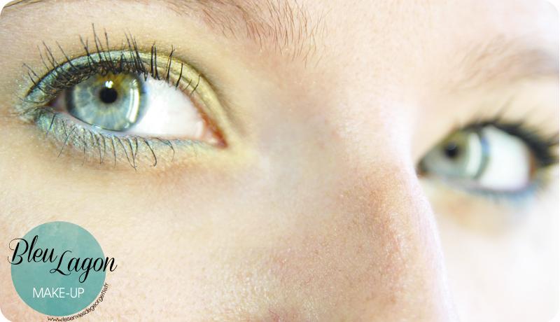 make up bleu lagon sur yeux bleus verts les envies de. Black Bedroom Furniture Sets. Home Design Ideas