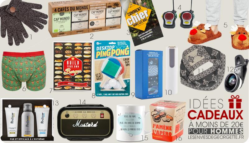 50 Idées cadeaux de Noël pour homme | Les Envies de Georgette