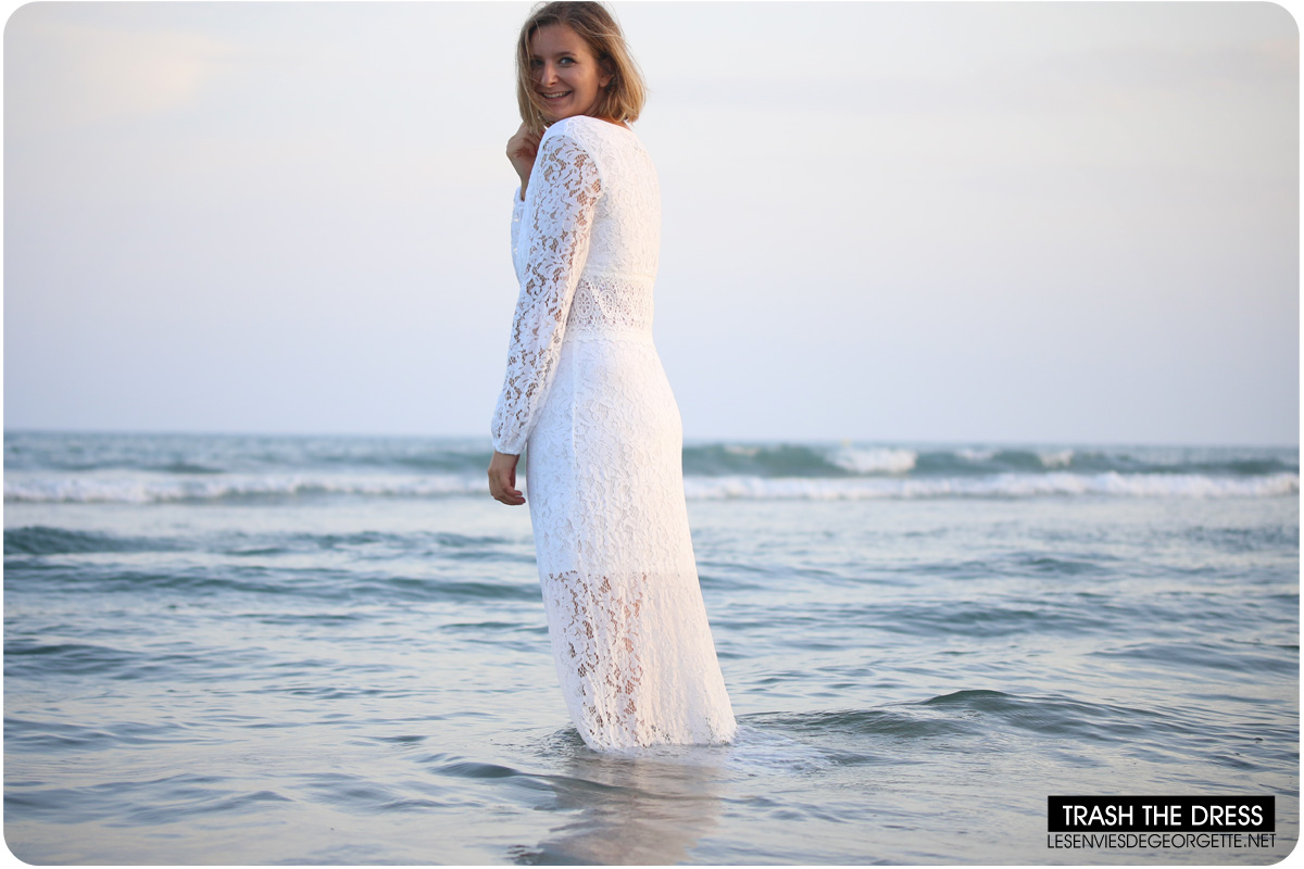 Robe longue blanche boho chic