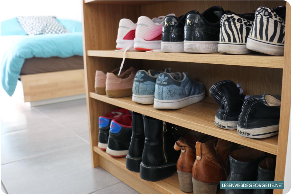rangement pour chaussures fait maison best affordable fabulous chambre enfant rangement. Black Bedroom Furniture Sets. Home Design Ideas